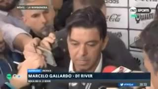 Gallardo repudió lo sucedido en el minuto de silencio y recordó a Cascio.