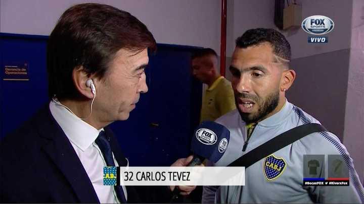 Carlos Tevez habló antes del partido