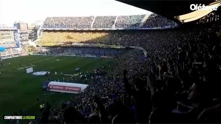 Así recibió el Superclásico la hinchada de Boca