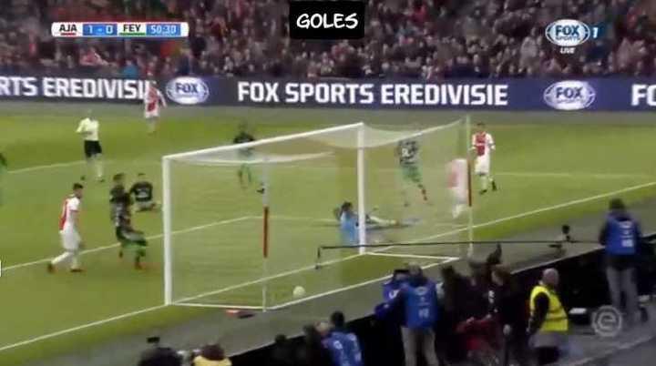 La asistencia de Tagliafico para el primero del Ajax