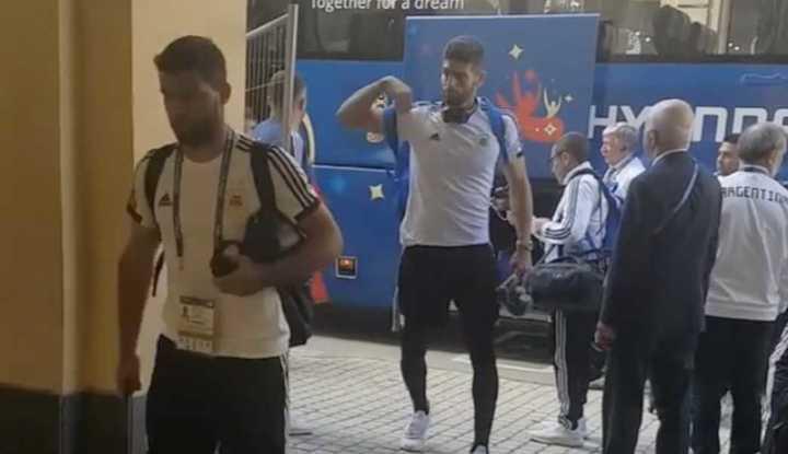La Selección llegó al hotel en San Petesburgo