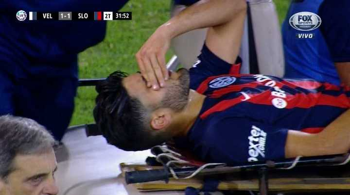 Blandi se fue lesionado