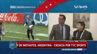 La arenga de Maradona para la Selección