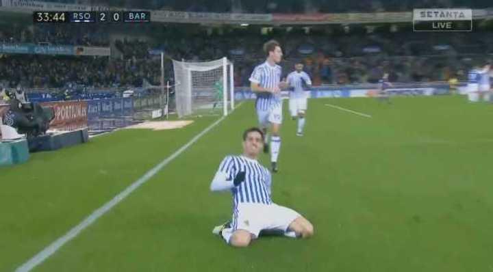 Con ayuda de Jordi Alba, Jiménez hizo el segundo