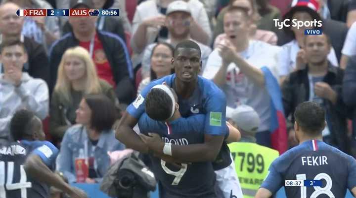 Pogba marcó el segundo de Francia