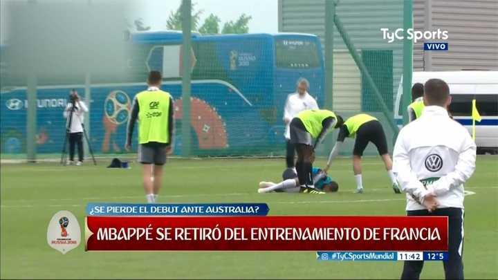 Alerta por Mbappé