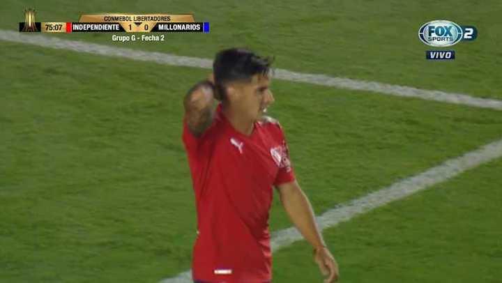 Menéndez quedó en offside