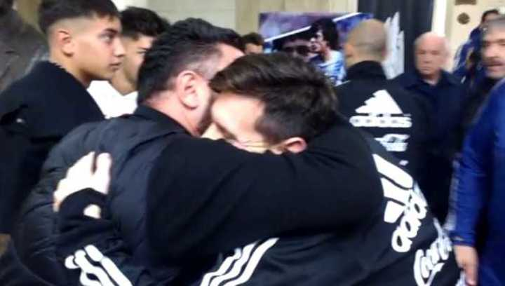 Messi se abrazó con Mohamed