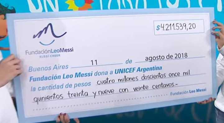 La millonaria donación de Messi