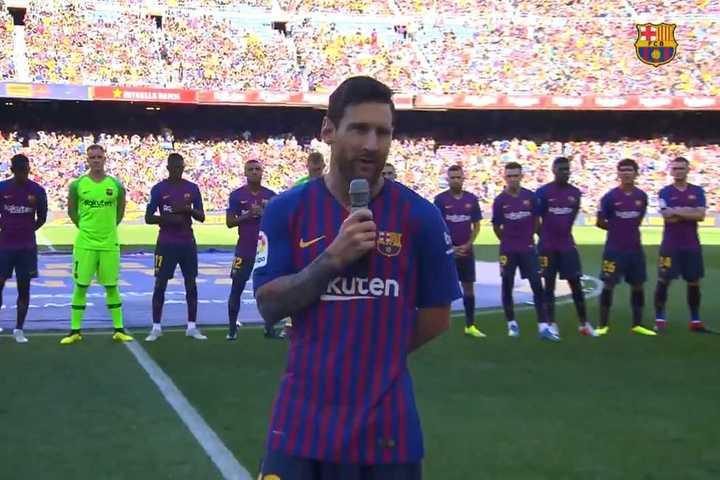 Las palabras de Messi en el Camp Nou