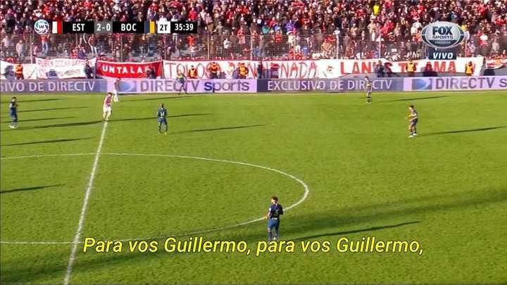 El cantito de la hinchada de Estudiantes para Guillermo