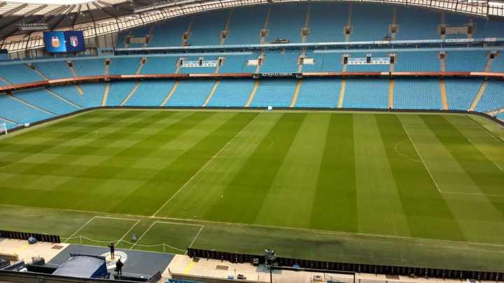 Así está el campo de juego para el partido de mañana