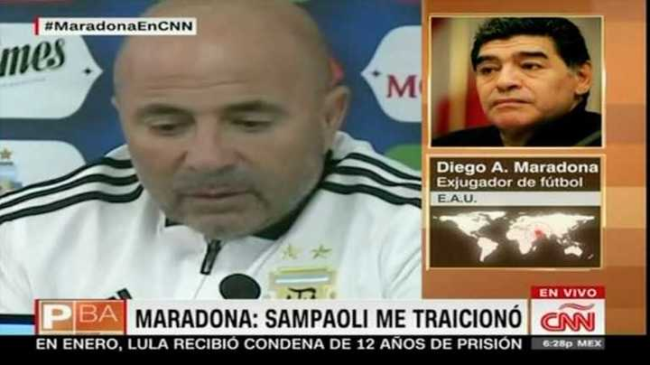 Maradona contra Sampaoli