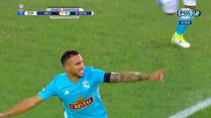 Herrera marcó el empate para Sporting Cristal