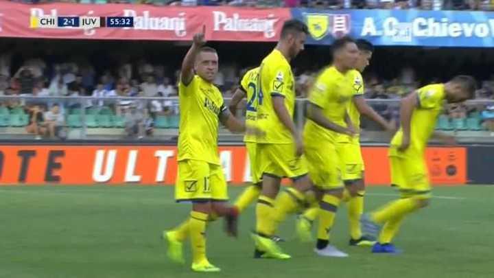 Giaccherini puso el 2 a 1 de Chievo