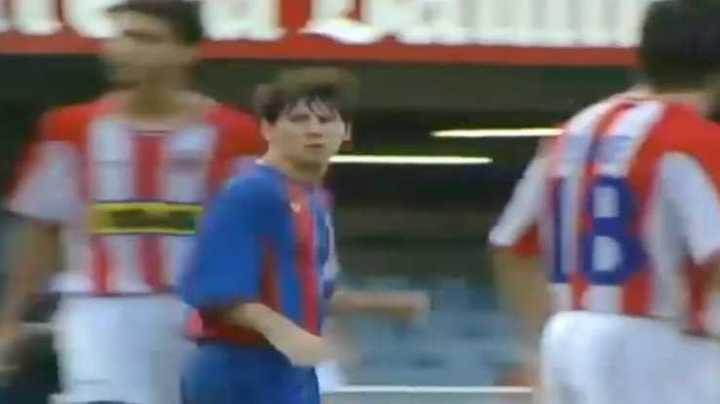 El gol de Messi a Girona en el Barsa B