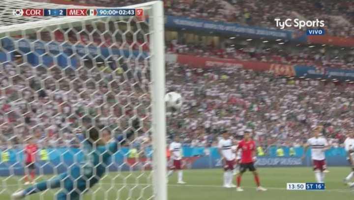 Corea metió el gol del honor