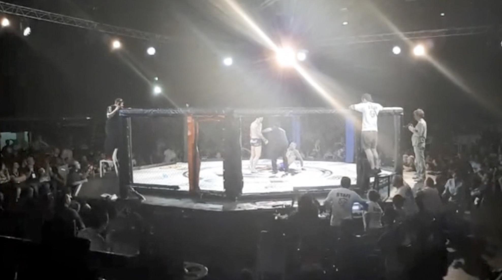 Tremenda fractura en MMA