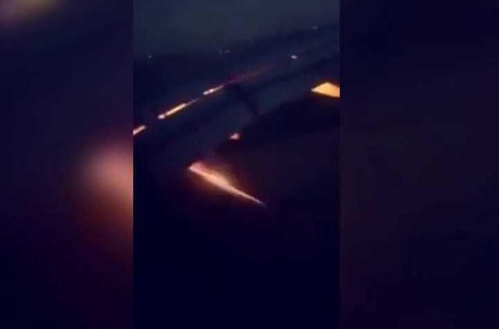 El incendio del avión de Arabia Saudita
