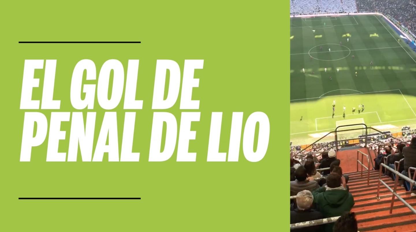 El gol de Messi en el clásico, desde adentro