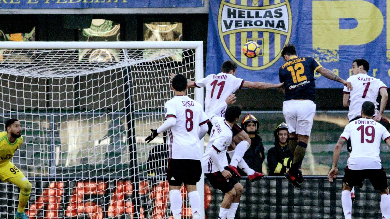 Los goles de Hellas Verona 3 - Milan 0