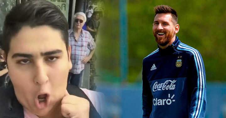 El hit viral pidiéndole la Copa a Messi