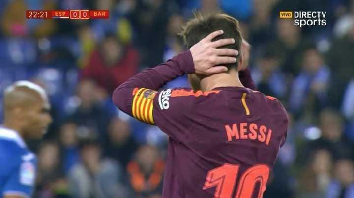 Casi lo tuvo Messi