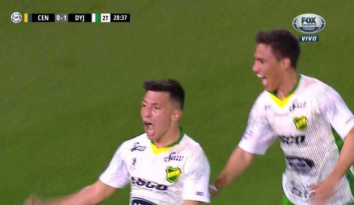 Martínez marcó el 1 a 0 del Halcón