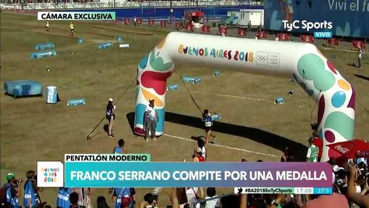 Franco Serrano ganó la medalla plateada en Pentatlón Moderno