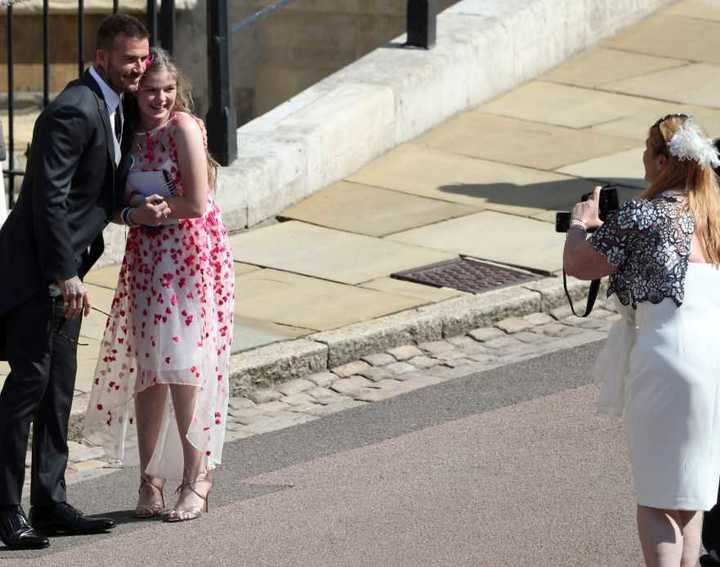 David Beckham y su mujer Victoria Adams en la Boda Real