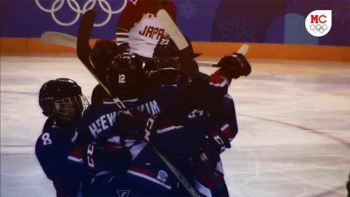 Gol y gran festejo de Corea unificada