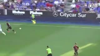 Los goles de Carrillo ante el Vallecano