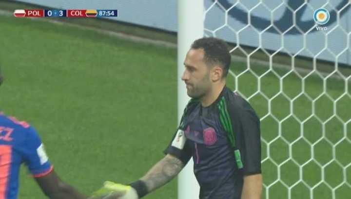 Ospina desvió el remate de Lewandowski