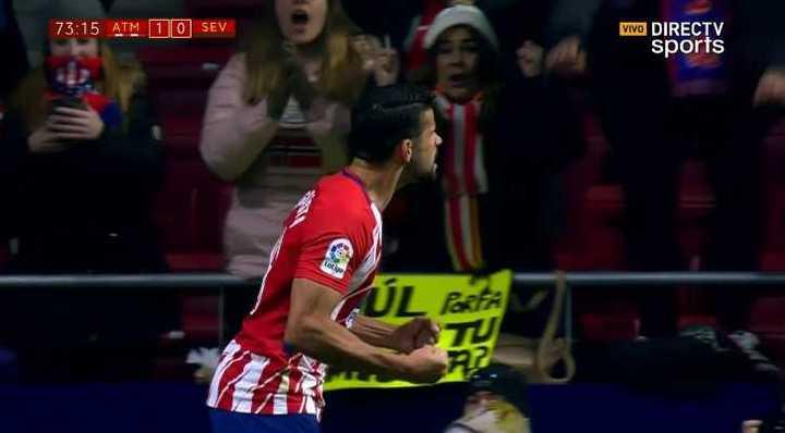 Costa abrió la cuenta para el Atlético
