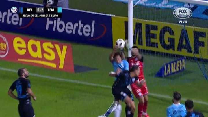 Era mano en el segundo gol de Temperley