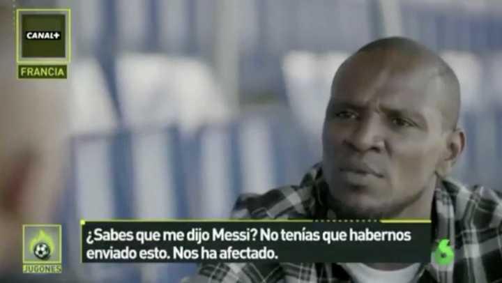 Abidal y el pedido de Messi