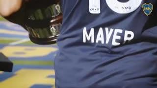 Mayer con la de Boca