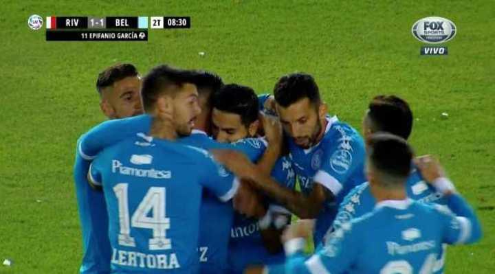 García empató para Belgrano
