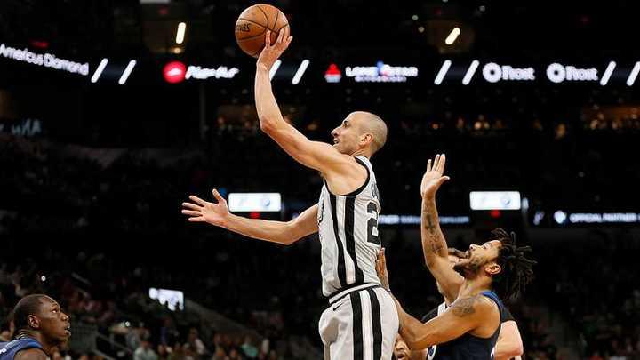 Manu volvió a romperla y ganaron los Spurs