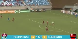La paliza 4-0 de Fluminense a Flamengo