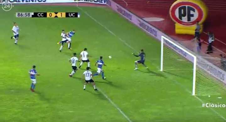 Luciano Aued le clavó un golazo a Agustín Orion