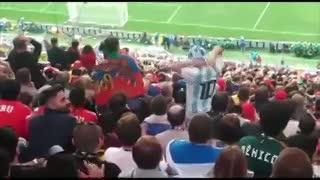 Picante cruce en el partido inaugural entre argentinos y brasileños