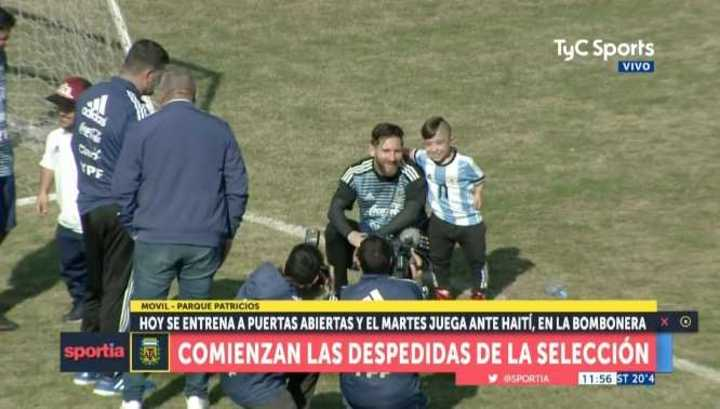 Messi y Diego Serpentini