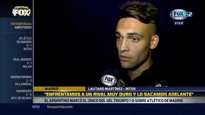 Lautaro habló de su acrobático gol