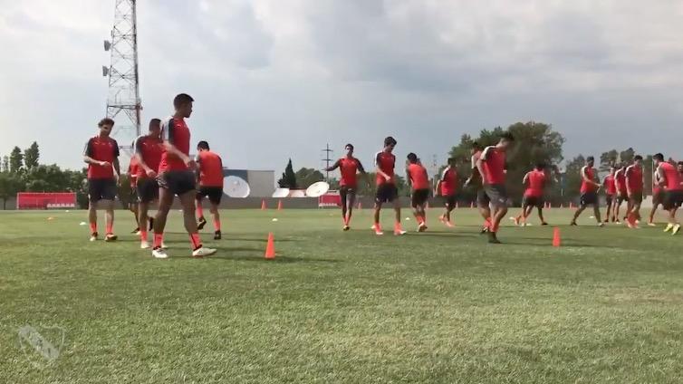 Mirá el entrenamiento de Independiente