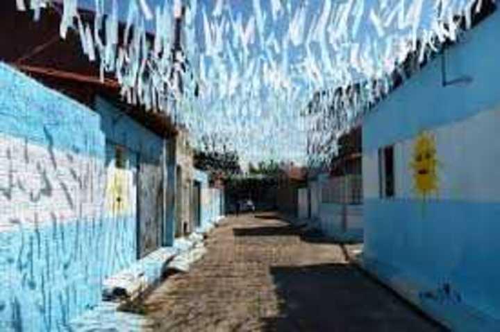 La calle argentina en Brasil.
