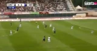El gol de Lautaro Martínez en el amistoso del Inter