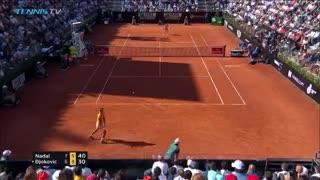 El último punto del partido entre Nadal y Djokovic
