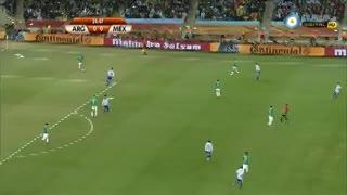 Argentina 3 - México 1 en Sudáfrica 2010.