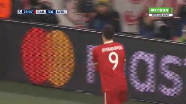 Lewandowsky marcó el 4 a 0 del Bayern
